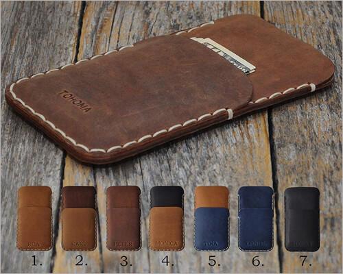 HAPPER STUDIO iPhone 11 Pro Max Italian Leather Sleeve