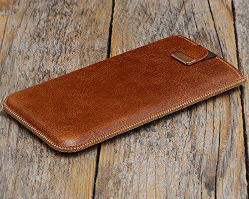 HAPPER STUDIO iPhone Xs Leather Sleeve