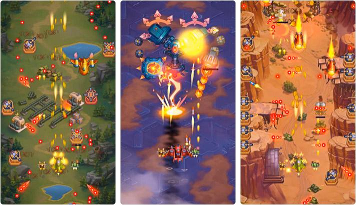 HAWK iPhone and iPad Space Shooter Game Screenshot