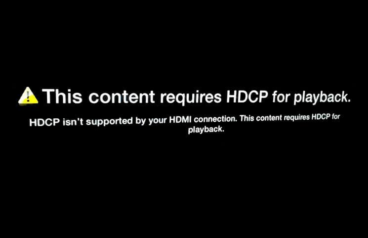 HDCP Error on Apple TV