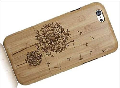 HESPLUS Dandelion Pattern iPhone 6 Plus Bamboo Case