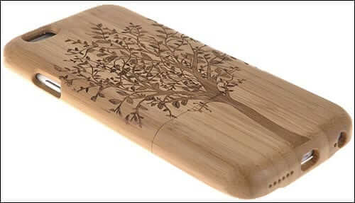 HESPLUS Tree Pattern Bamboo Case for iPhone 6 Plus