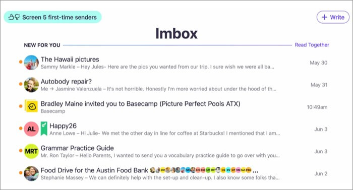 HEY Email Mac App Screenshot