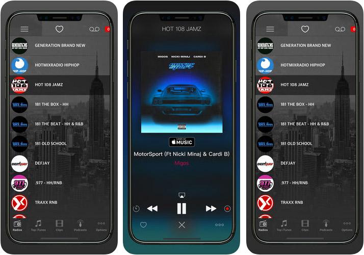 HIP HOP, RAP AND R&B RADIO iPhone and iPad App Screenshot