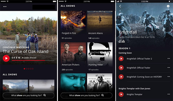 HISTORY TV Shows iPhone and iPad App Screenshot