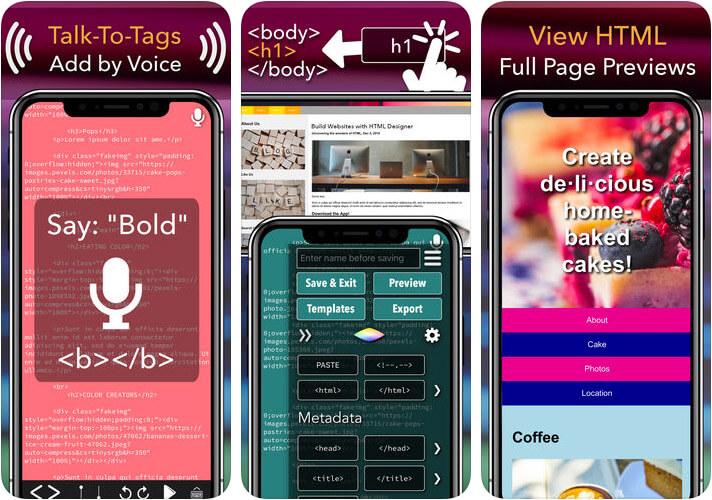 HTML Designer iPhone and iPad HTML Editor App Screenshot