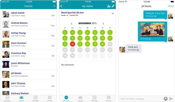 HabitShare iPhone and iPad App Screenshot