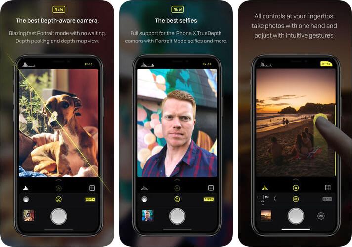Halide Camera iPhone App Screenshot