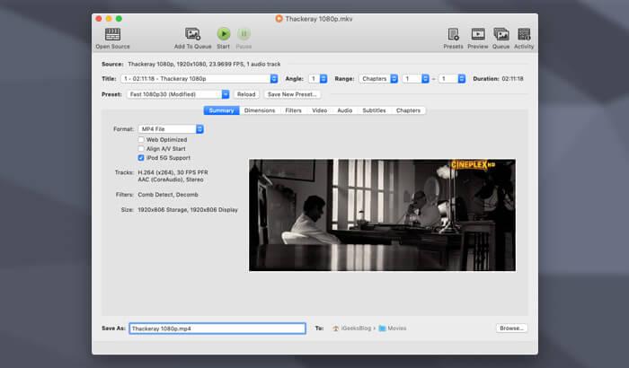 Handbrake iPad Video Converter