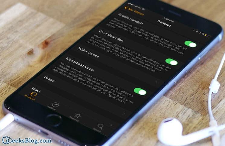 Handoff Not Working Between Apple Watch and iPhone