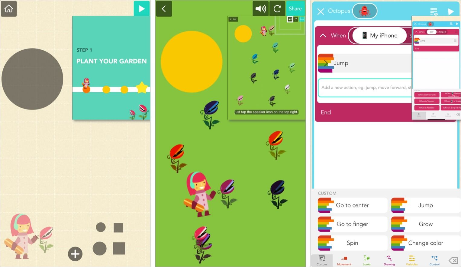 Hands-on learning concept in Hopscotch iPhone app