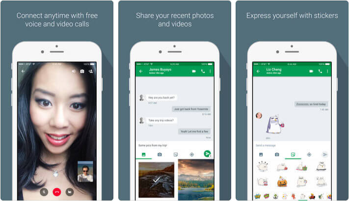 Hangouts iPhone and iPad App Screenshot