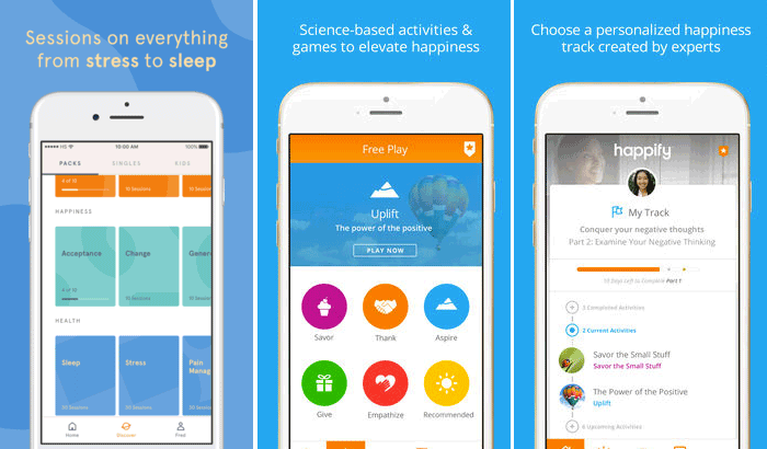Happify Stress-Relieving iPhone and iPad App Screenshot