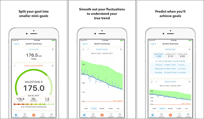 Happy Scale Weight Tracking iPhone and iPad App Screenshot