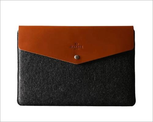 Harber London Leather Macbook Envelope Case Sleeve