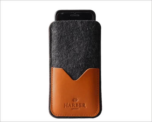 Harber London Leather Sleeve Executive Case for iPhone 11 Pro Max