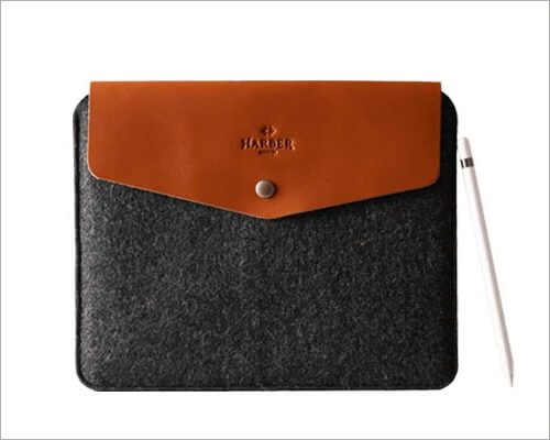 Harber London Leather iPad Envelope Sleeve Case