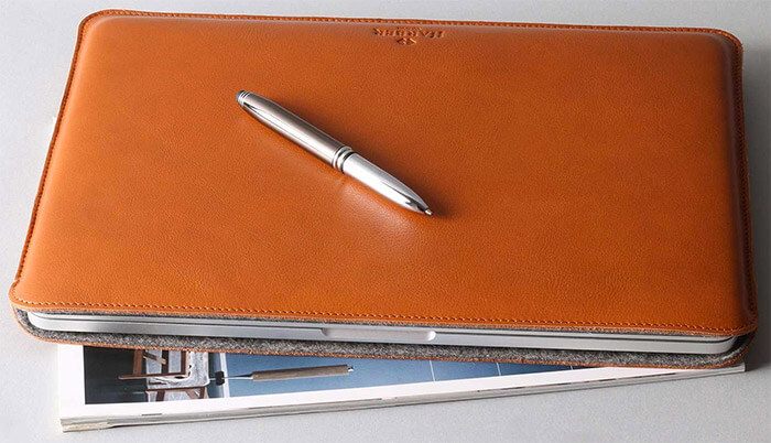 Harber London MacBook Pro and MacBook Air Leather Sleeve