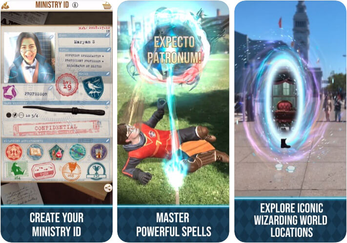 Harry Potter Wizards Unite iPhone and iPad Game Screenshot