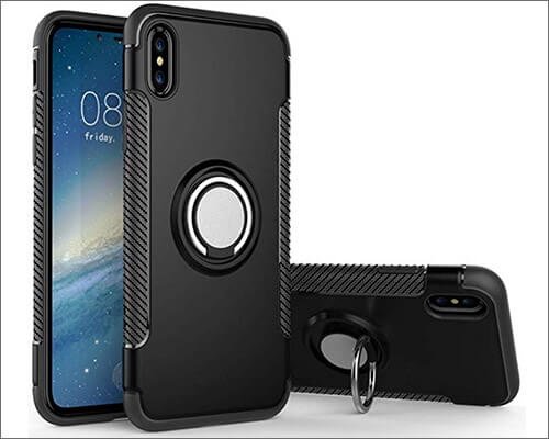 Hayder iPhone Xs Max Ring Holder Case