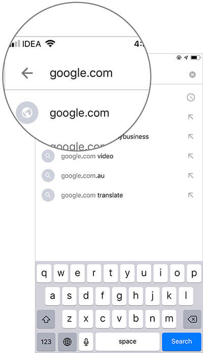 Head over to Google.com on iPhone, Android or Computer