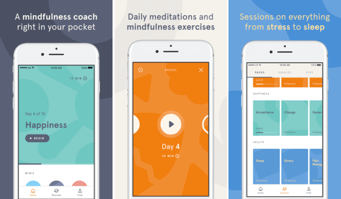 Headspace - Guided Meditation Stress-Relieving iPhone and iPad App Screenshot