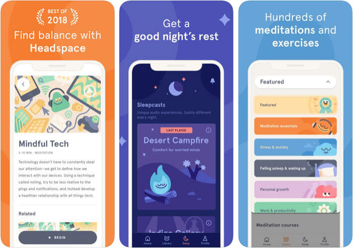 Headspace iPhone and iPad App Screenshot