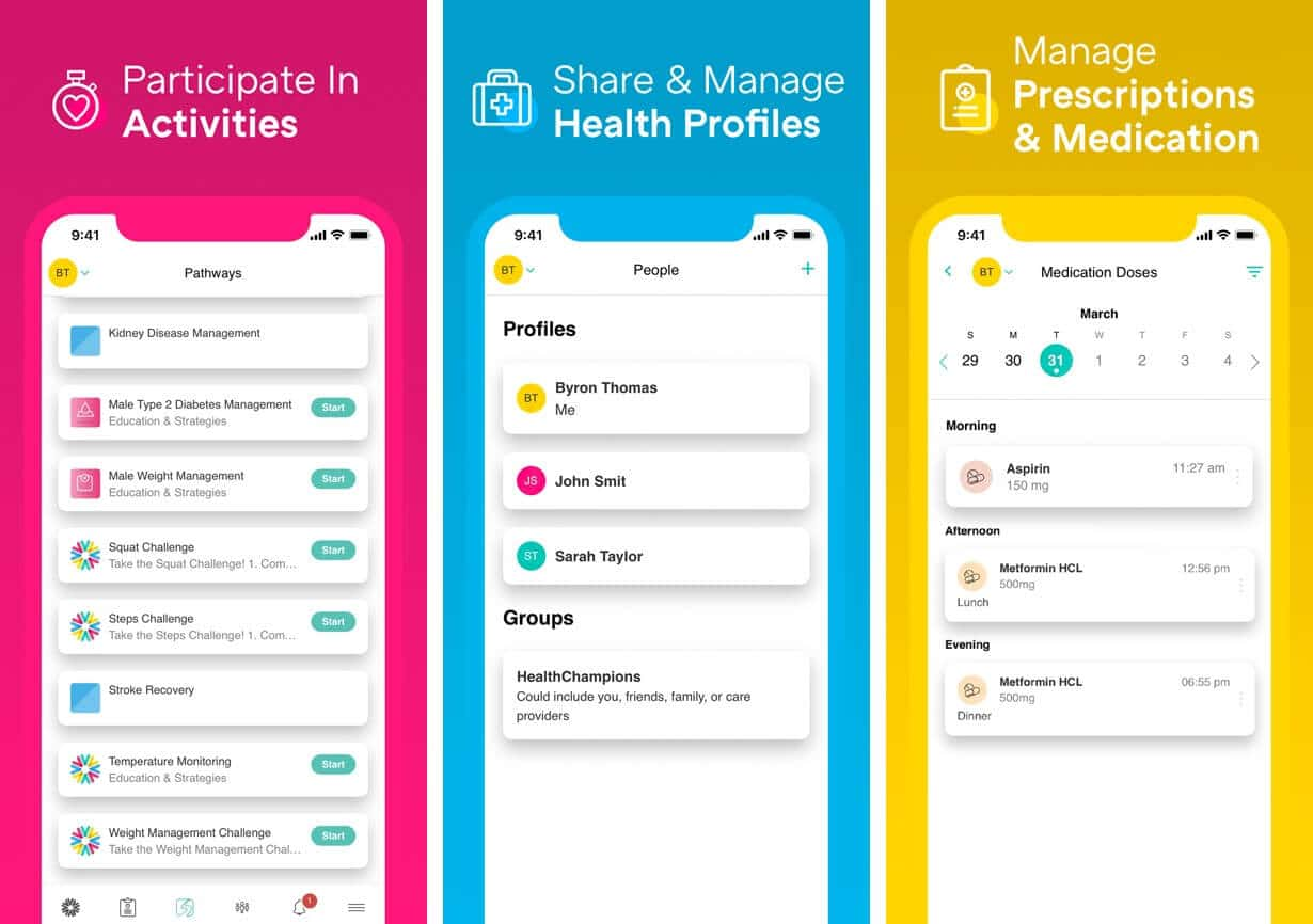 HealthChampion Symptom Tracker iPhone and Android App
