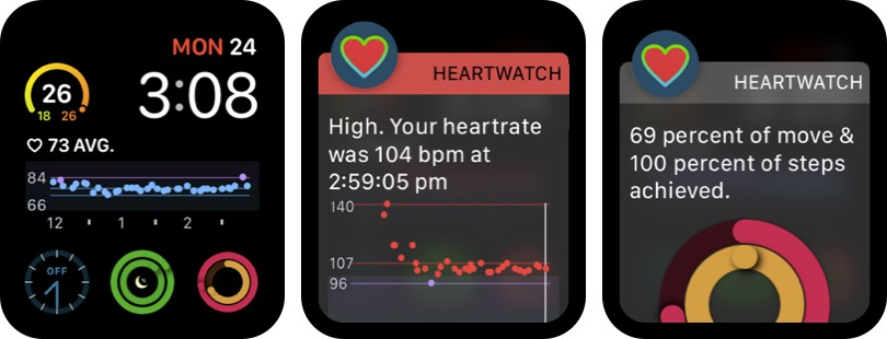 HeartWatch Monitor Heart Rate Apple Watch App Screenshot