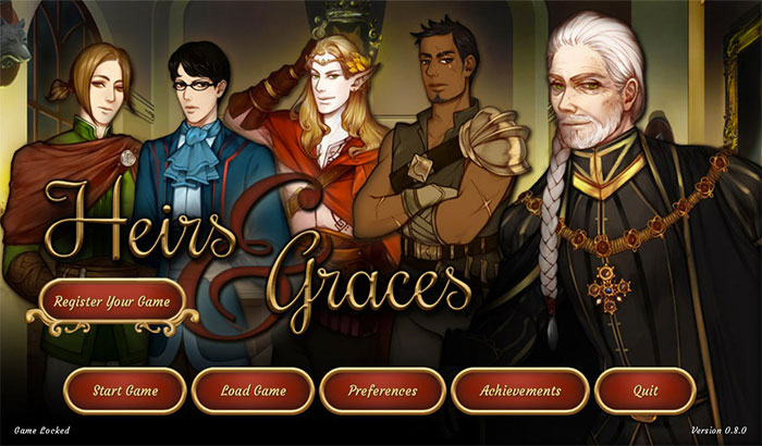 Heirs and Graces Visual Novel iPhone and iPad App Screenshot