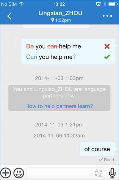 HelloTalk Grammar iPhone App