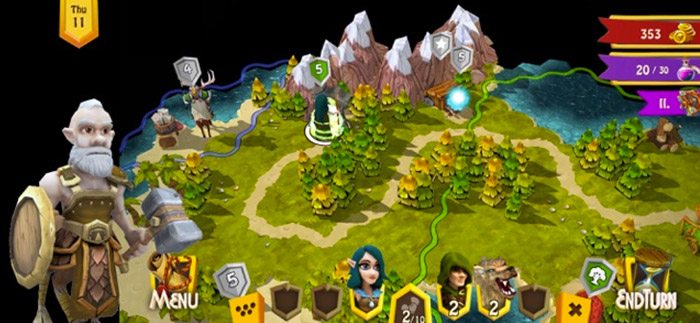 Heroes of Flatlandia iPhone and iPad Turn Based Strategy Game Screenshot