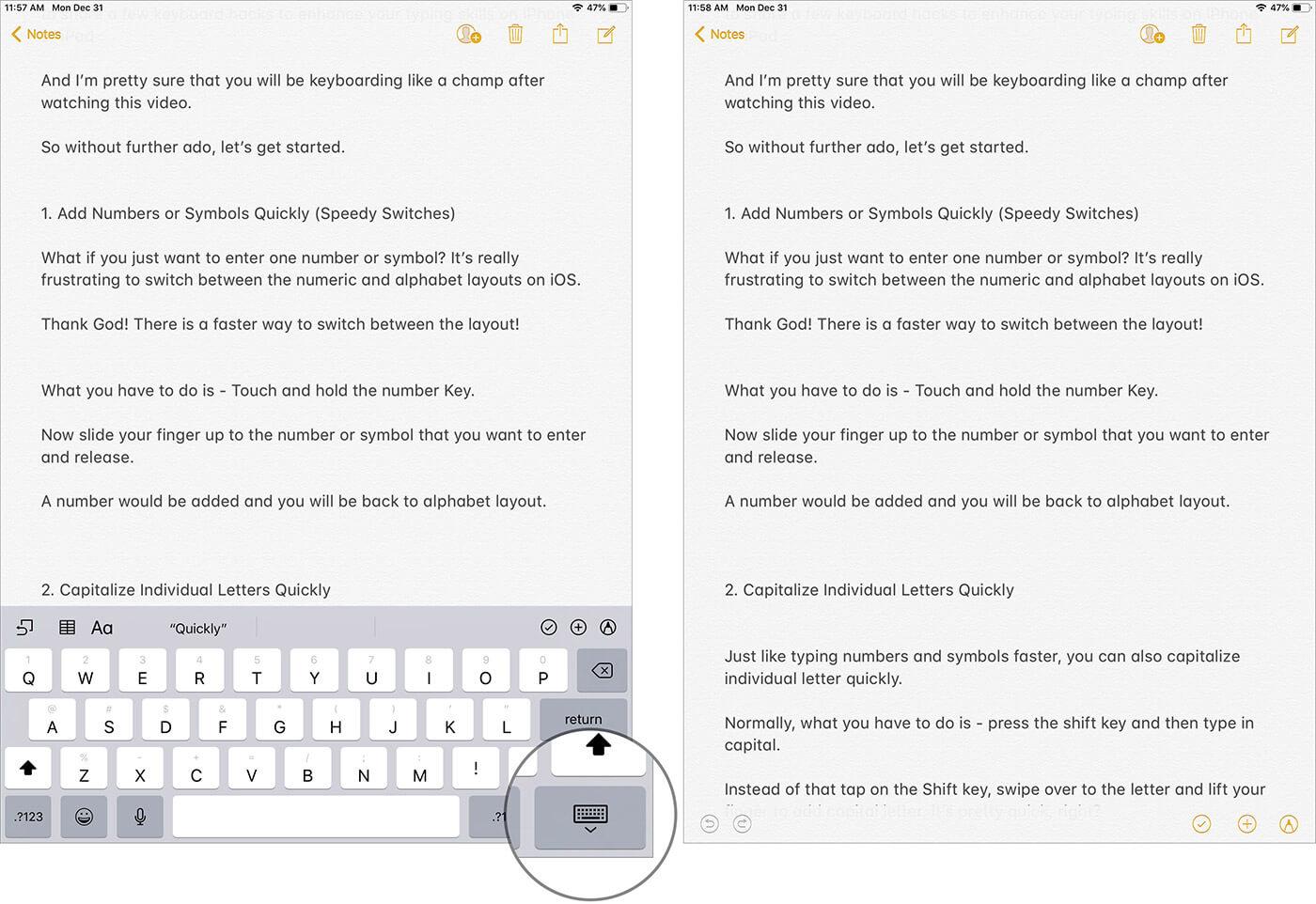 Hide Keyboard on iPad