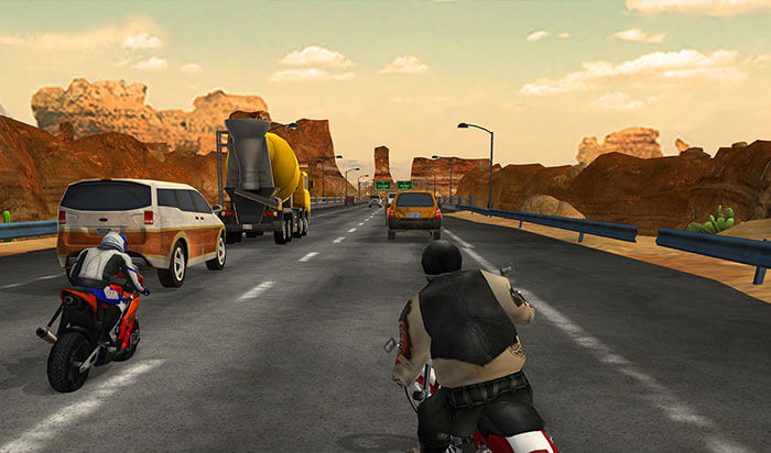 Highway Rider iPad Bike Racing Game Screenshot