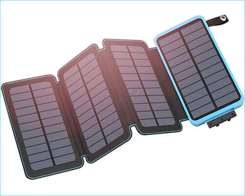 Hiluckey Solar Portable Charger for iPhone