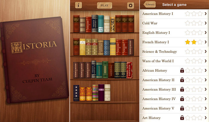 Historia World iPhone and iPad App Screenshot
