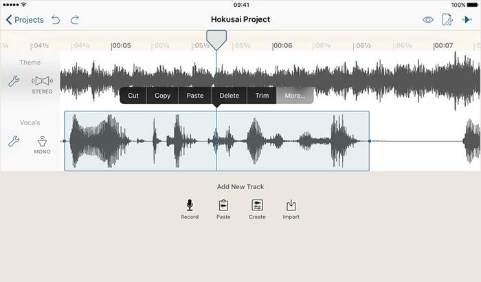 Hokusai Audio Editor iPhone and iPad App Screenshot
