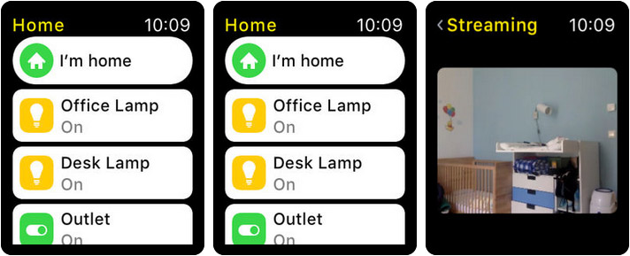 Home 3 Apple Watch Home Automation App Screenshot