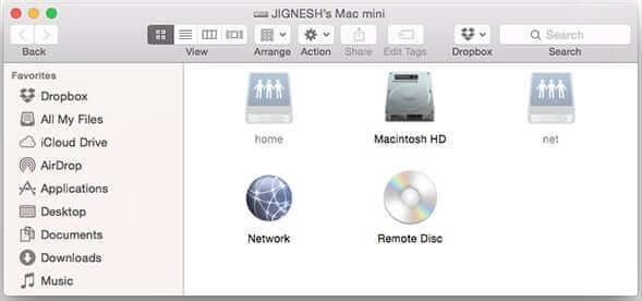 Home Window After Enabling Hidden Files on Mac