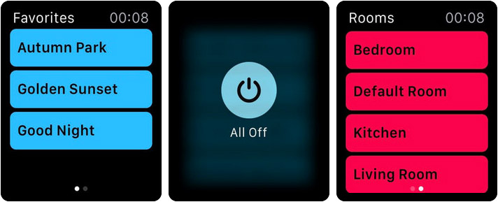HomeDash Apple Watch Home Automation App Screenshot