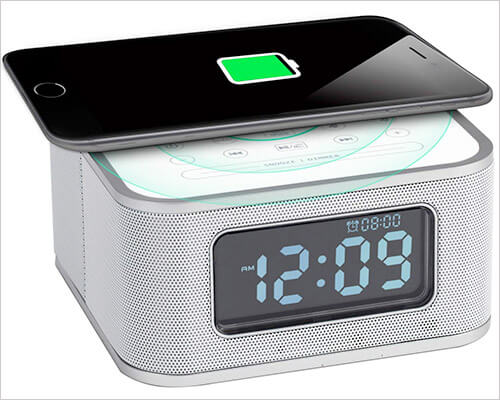 Homtime Wireless Charging Dock with Speakers for iPhone X, 8, and iPhone 8 Plus