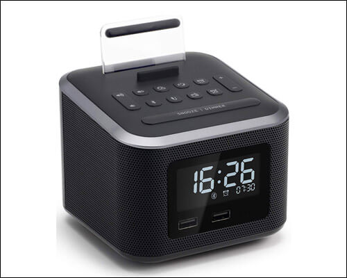 Homtime iPhone 6 and 6 Plus Clock-Radio Docking Station