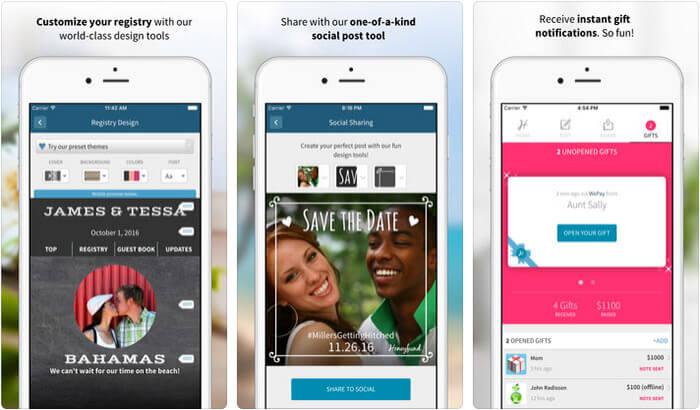 Honeyfund Wedding Registry iPhone and iPad App Screenshot