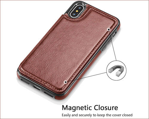 Hoofur iPhone Xs Leather Case