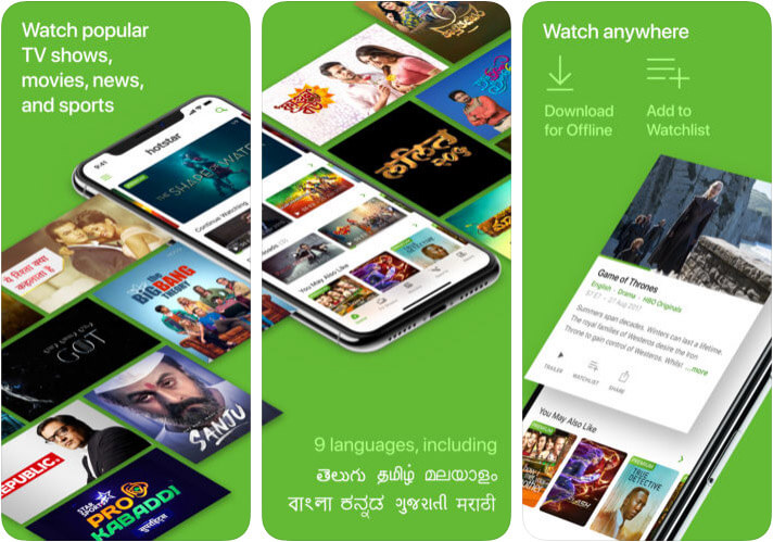 Hotstar Live Streaming App for iPhone and iPad Screenshot