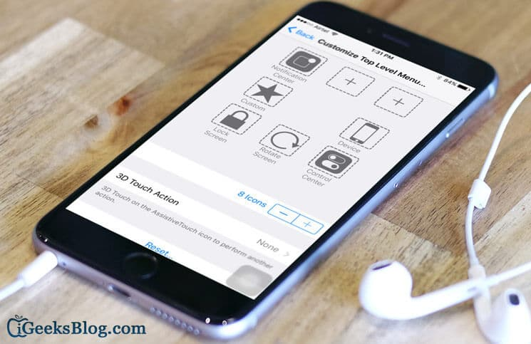How to Add 3D Touch Options to AssistiveTouch on iPhone 6s-6s Plus