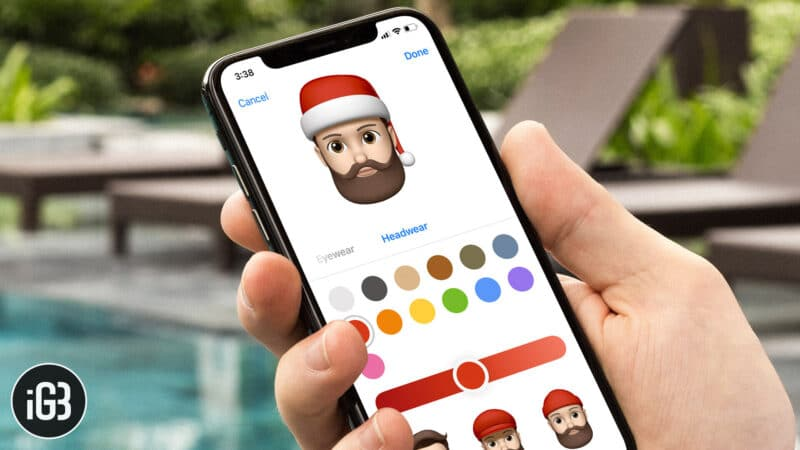 How to Add Santa Hat to Memoji in iMessage on iPhone and iPad