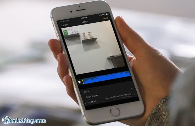 How to Add Soundtracks and Music to Clips App on iPhone