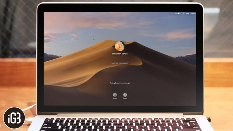 How to Add or Remove Custom Lock Screen Message on Mac