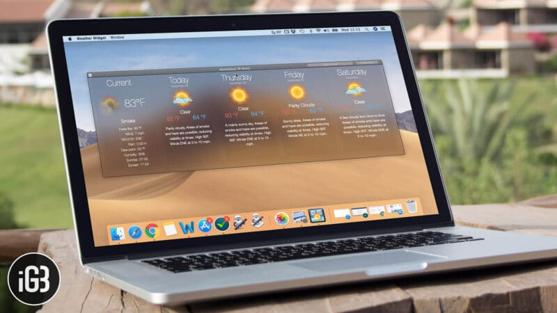 How to Add the Weather Forecast to Your Mac Menu Bar